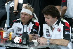BAR-Honda team members after a hard day of work