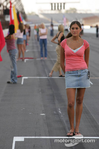 Grid girls rehearsal