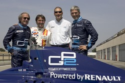 Jacques Laffite, Adrian Campos, Bruno Michel and Damon Hill