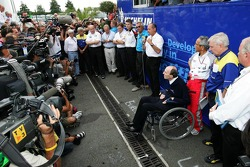An unannounced press conference at the Michelin paddock area by team bosses using Michelin tires
