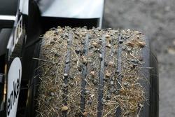 Tire on Kimi Raikkonen's car