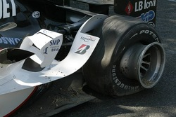 Wrecked car of Christijan Albers