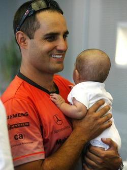 Juan Pablo Montoya and baby boy Sebastian
