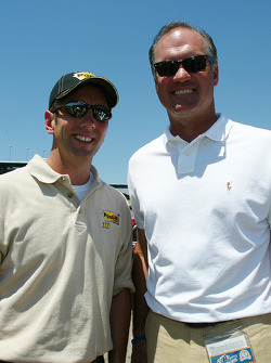Ryne Sandberg former Chicago Cubs player with Greg Biffle