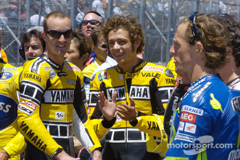 Colin Edwards, Valentino Rossi and Sete Gibernau