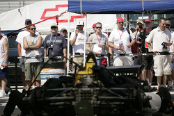 Fans watch pitlane action