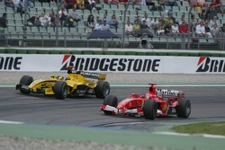Michael Schumacher and Tiago Monteiro