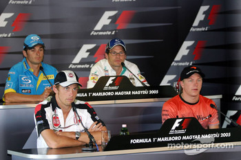 Thursday FIA press conference: Giancarlo Fisichella, Jacques Villeneuve, Jenson Button and Kimi Raikkonen