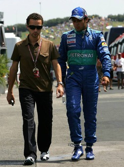 Felipe Massa with manager Nicolas Todt