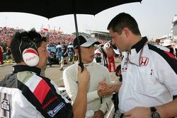 Takuma Sato and Gil de Ferran