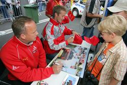 Autograph session: Harri Rovanpera and Risto Pietilainen