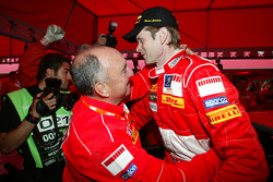 Winner Marcus Gronholm celebrates with Jean-Pierre Nicolas