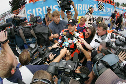 Victory lane: interviews for race winner Tony Stewart