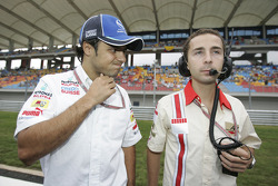 Felipe Massa and Nicolas Todt on the starting grid
