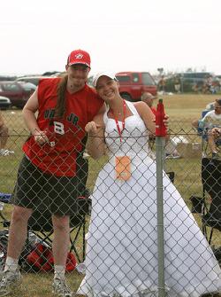 Newly weds at Watkins Glen