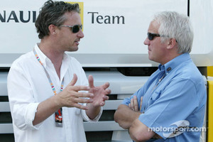 Eddie Irvine and Charlie Whiting