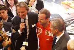 Ferrari store in Milan: Luca di Montezemelo and Rubens Barrichello