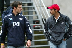 Mark Webber and Narain Karthikeyan