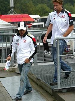 Takuma Sato and Jenson Button