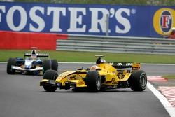 Narain Karthikeyan spins off in the grass