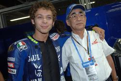 Valentino Rossi with Yamaha President Mr. Kajikawa