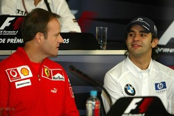 FIA press conference: Rubens Barrichello and Antonio Pizzonia