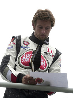 Go-kart event in Sao Paulo: Jenson Button