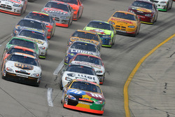 Elliott Sadler leads the field