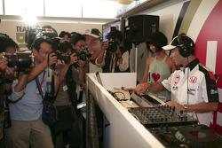 At home in Tokyo with Takuma Sato: DJ Takuma at work