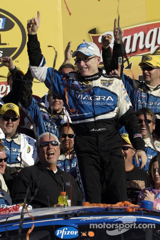 Victory lane: race winner Mark Martin