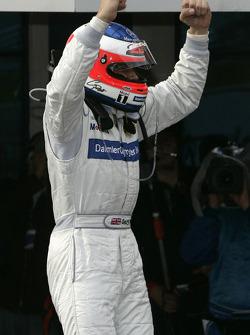 Race winner Gary Paffett celebrates