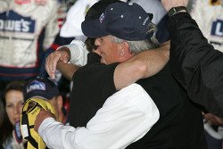 Victory lane: Jeff Gordon and Rick Hendrick celebrate