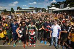 WSBK riders visit a school in Australia