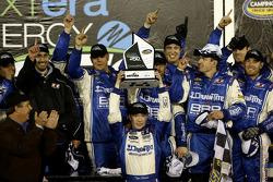 Race winner Tyler Reddick, Brad Keselowski Racing Ford celebrates