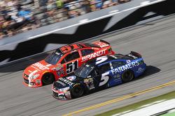 Justin Allgaier, HScott Motorsports Chevrolet, Kasey Kahne, Hendrick Motorsports Chevrolet