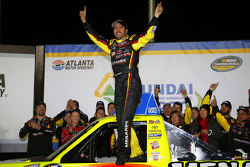 Race winner Matt Crafton, ThorSport Racing Toyota celebrates