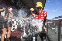 Race winner James Courtney, Holden Racing Team celebrates