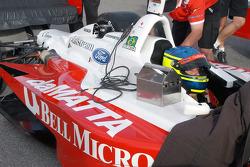 Cristiano Da Matta, clearly in the right car