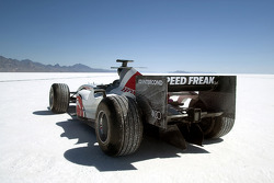 The BAR Honda 007 Bonneville 400 record car is based on a low-downforce Monza-spec chassis