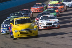 Pace car leads the field on a pace lap