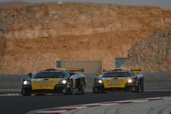#5 Konrad Motorsport Saleen S7 R: Robert Lechner, Paolo Ruberti, #4 Konrad Motorsport Saleen S7 R: Adam Lacko, Franz Konrad