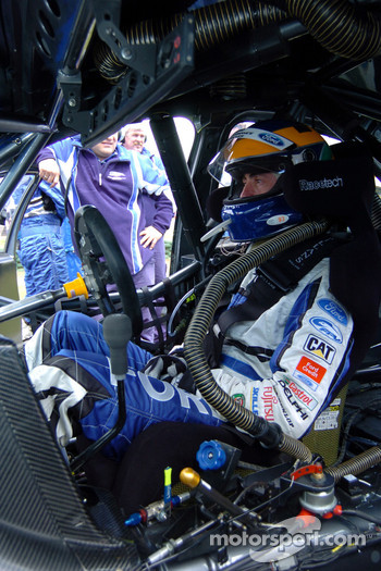 David Brabham is all concentration