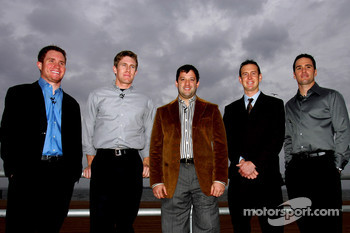 NASCAR drivers Brian Vickers, Carl Edwards, Tony Stewart the 2005 NASCAR NEXTEL Series champion, Kurt Bush and Jimmie Johnson visit Staten Island