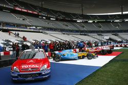 World championship cars on display