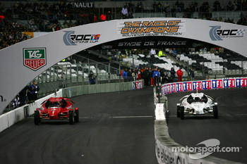 Quarter final: Felipe Massa and Jean Alesi