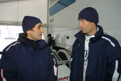Mark Webber BMW WilliamsF1 Team driver 2005 with Alex Zanardi