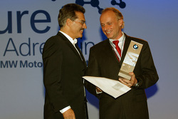 Dr Mario Theissen (BMW Motorsport Director) with BMW driver Franz Engstler