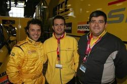 Loris Capirossi, Giovanni Calabrese and Antonio Rodriguez