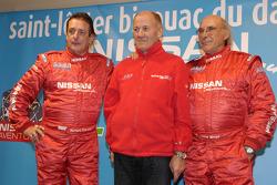 Team Nissan Dessoude presentation: Bernard Chevalier, André Dessoude and René Metge