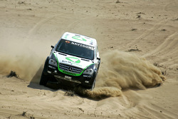 Kwikpower Mercedes-Benz Team: Ellen Lohr and Detlef Ruf test the Kwikpower Mercedes-Benz in Dubai
